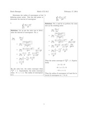 Math 1172 10.2 Solutions Sp 2014