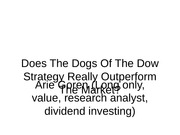 7. The dogs of the dow