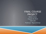 Presentation for final Course project