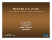 Municipal Solid Waste Processing-Powerpoint presentation