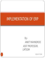 Implementation of ERP - Chapter 8