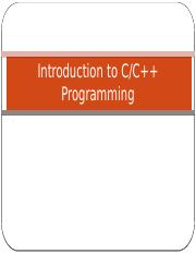 3.0 - Introduction to C