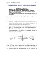 W4 - THE BALANCING OF ACCOUNTS AND THE TRIAL BALANCE.docx
