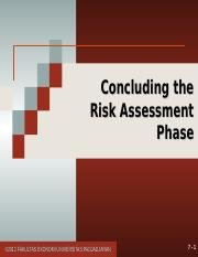 11. Concluding the Risk Assessment.ppt