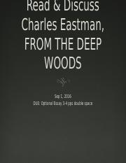 HST338 Eastman FROM DEEP WOODS Sept 1