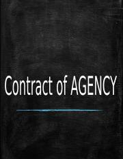 Contract of AGENCY.pptx