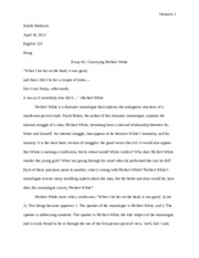 eng123 essay 2 Conveying Herbert White