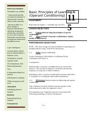 PL100 AY15 LSN 11 Operant Conditioning