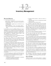 Inventory management solution