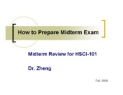 Lecture 13 Midterm Review