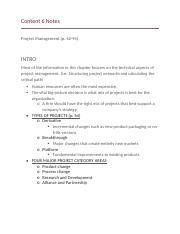 Content 6 Notes