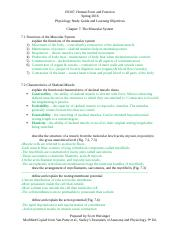 ES 207 - Chapter 07 - Study Guide Muscular System w. notes
