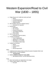 7) Western Expansion + Road to Civil War