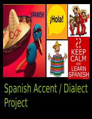 spanish dialect project