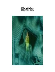 Bioethics Powerpoint