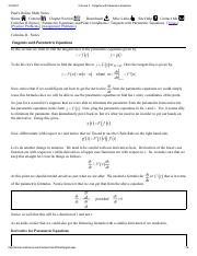 Calculus II - Tangents with Parametric Equations