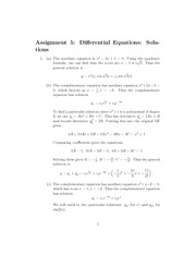 MATH 2002 Fall 2008 Assignment 5 Solutions