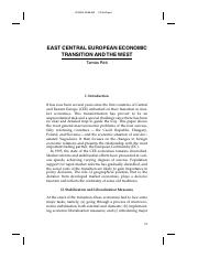 East Central European Economic Transition and the West