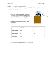 2-D and projectile motion