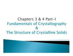 MEC 300-Materials Science Chapter 3 and 4 Part 1
