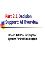 Part2.1 Decision support - AI Overview.ppt