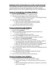 Intro to Psychology - Study Guide_Exam 1 (1).docx