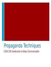 Propaganda Techniques FOR STUDENTS.pptx