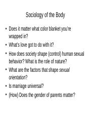 5.Sociology of the Body .ppt