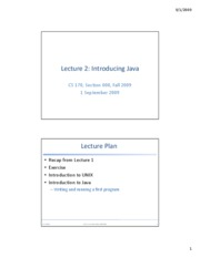 lecture2-introduction+java