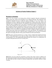 Solutions for PP2 PHYS 191 Fall 2014-Ch02