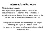 Intermediate Protocols