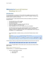 BI Publisher - Template Builder for Word Tutorial