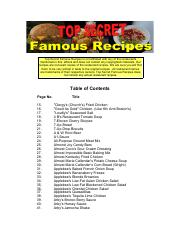 The Complete Top Secret Famous Recipes Cookbook Pdf Top Secret Famous Recipes Is Not Affiliated With Any Of The Restaurants Mentioned In This Ebook Course Hero