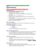 Principles of Accounting and Finance Notes