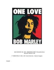 Descriptive essay on bob marley