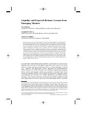 Liquidity and Expected Returns- Lessons from Emerging markets - Bekaert 2007.pdf