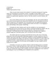 volunteer reflection essay