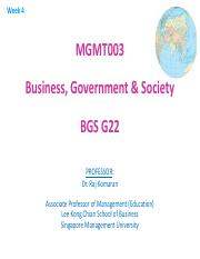 BGS 2013-14 T1 Week 04 Regulatory Environment and Ethics