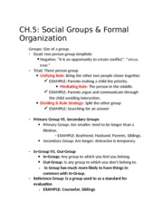 Notes ch 5 and 6