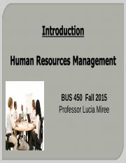 0. Intro to HRM BUS 450 Fall 2015.ppt
