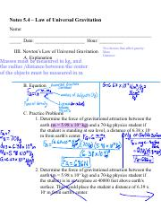 5.4 Notes - Law of Universal Gravitation.pdf
