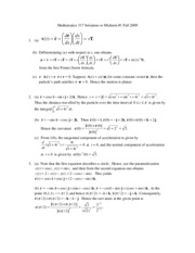 Mathematics 317 Solutions to Midterm