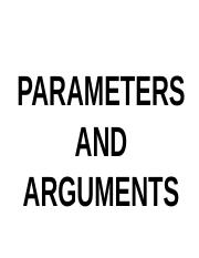 PARAMETERS_AND_ARGUMENTS.ppt
