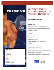 Theme VII - Biomechanical Foundations of Weight Training_5eb2866