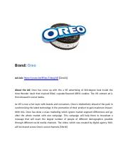 Oreo Ad - Customer Profile