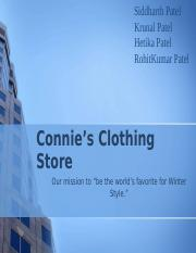 Connie's Clothing Store.pptx