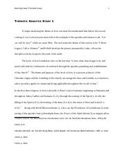 Thesis Statement Examples For Argumentative Essays  Pages Thematic Analysis Essay  Secondary School English Essay also Politics And The English Language Essay Thematic Analysis Essay   Thematic Analysis Essay  Acts   Animal Testing Essay Thesis