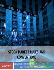 4. Stock Market Rules and Conventions-For Printing.pptx
