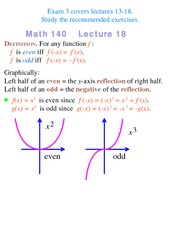 Lecture 18 on Precalculus