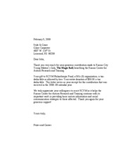 KCYM Tax Letter